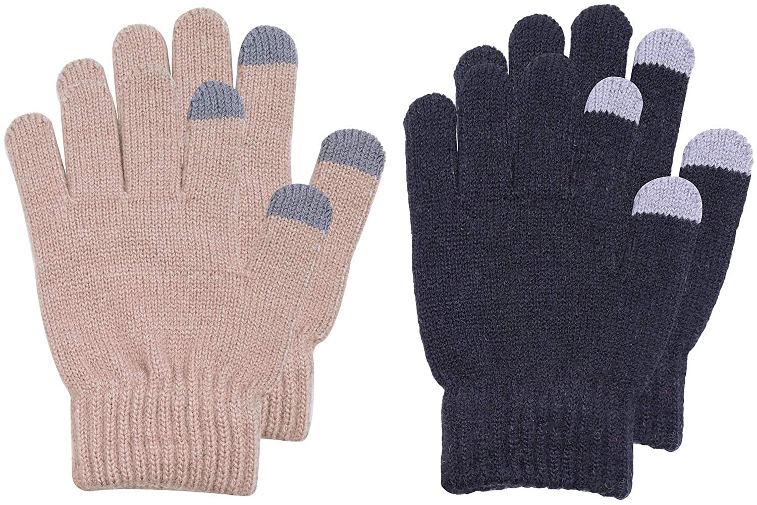 BODY STRENTH Kids Magic Gloves Winter Warm Touch Screen Cashmere KIDSTSGLOvES003