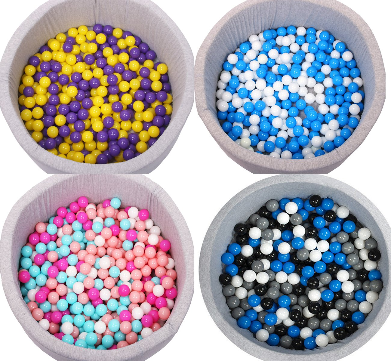 Langxun Pack of 200 Silver ( Gray ) Ball Pit Balls - Phthalate Free BPA Free Crush Proof Plastic Ball | Ideal Gifts for Kids & Photo Booth Props for Baby and Kids by Langxun (Image #6)