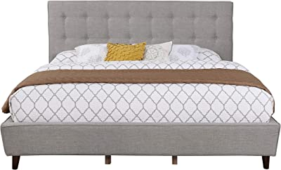 NHI Express 51006-43GY Preston Bed, Queen, Gray