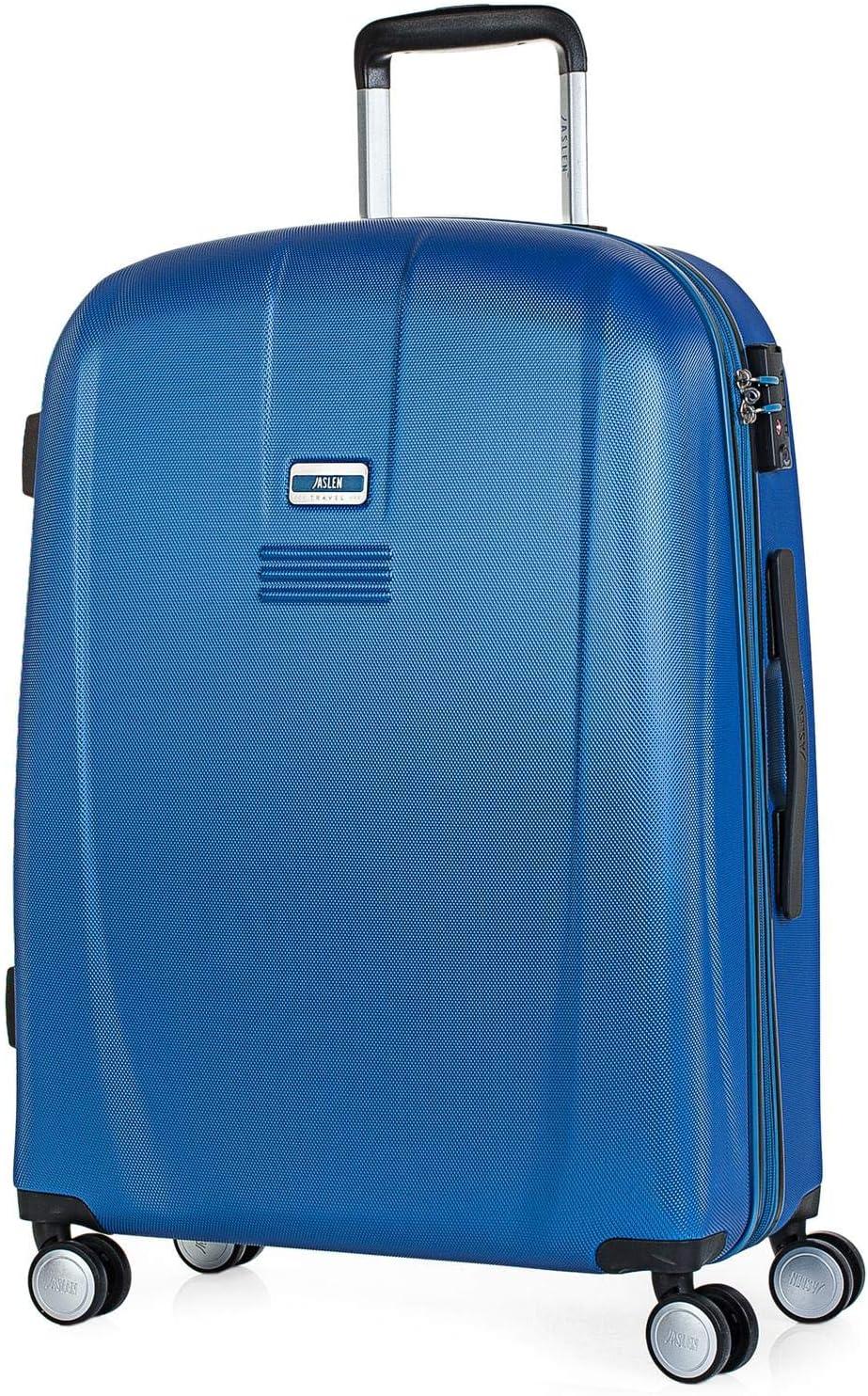 JASLEN - Maleta de Viaje Rígida 4 Ruedas Trolley Mediana de ABS. Cómoda Duradera y Ligera. Ideal para Estudiantes. Candado TSA Confianza. 56560, Color Azul