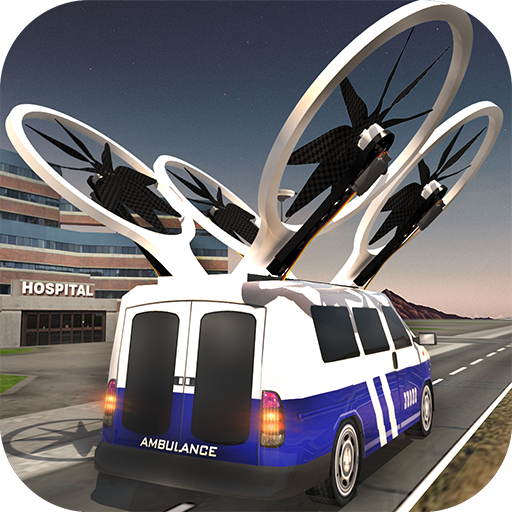 Flying Emergency Ambulance Driving: 911 Rescue Simulator Free ()