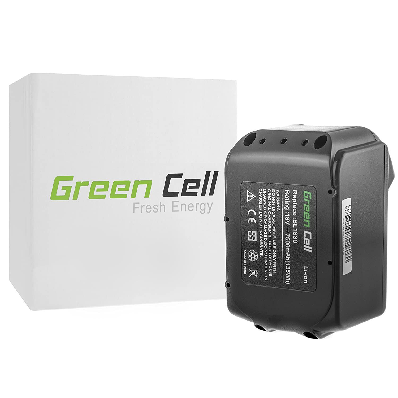 Green Cell® Elektrowerkzeug Akku für Makita XPH012 (Panasonic Li-Ion Zellen 7500 mAh 18V)