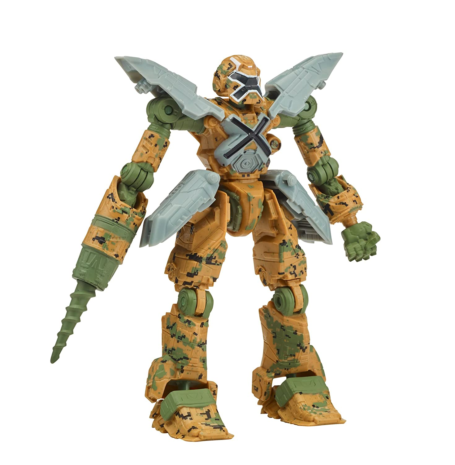 Mech-X4 5 Camo Robot with Drill Action Figure Bandai America Incorporated 37263
