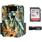 Browning Strike Force HD Pro X (2019) Trail Game Camera Bundle Includes 32GB Memory Card and J-TECH Card Reader (20MP) | BTC5