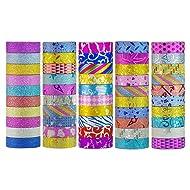 Washi Tape Set 50 Rolls Decorative DIY Tapes for Arts and Crafts Glitter Washi Masking Tape