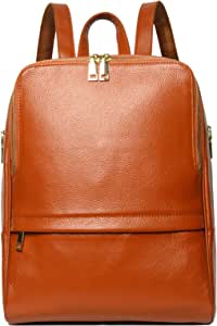Coolcy Hot Style Women Real Genuine Leather Backpack Fashion Bag (Dark Brown)