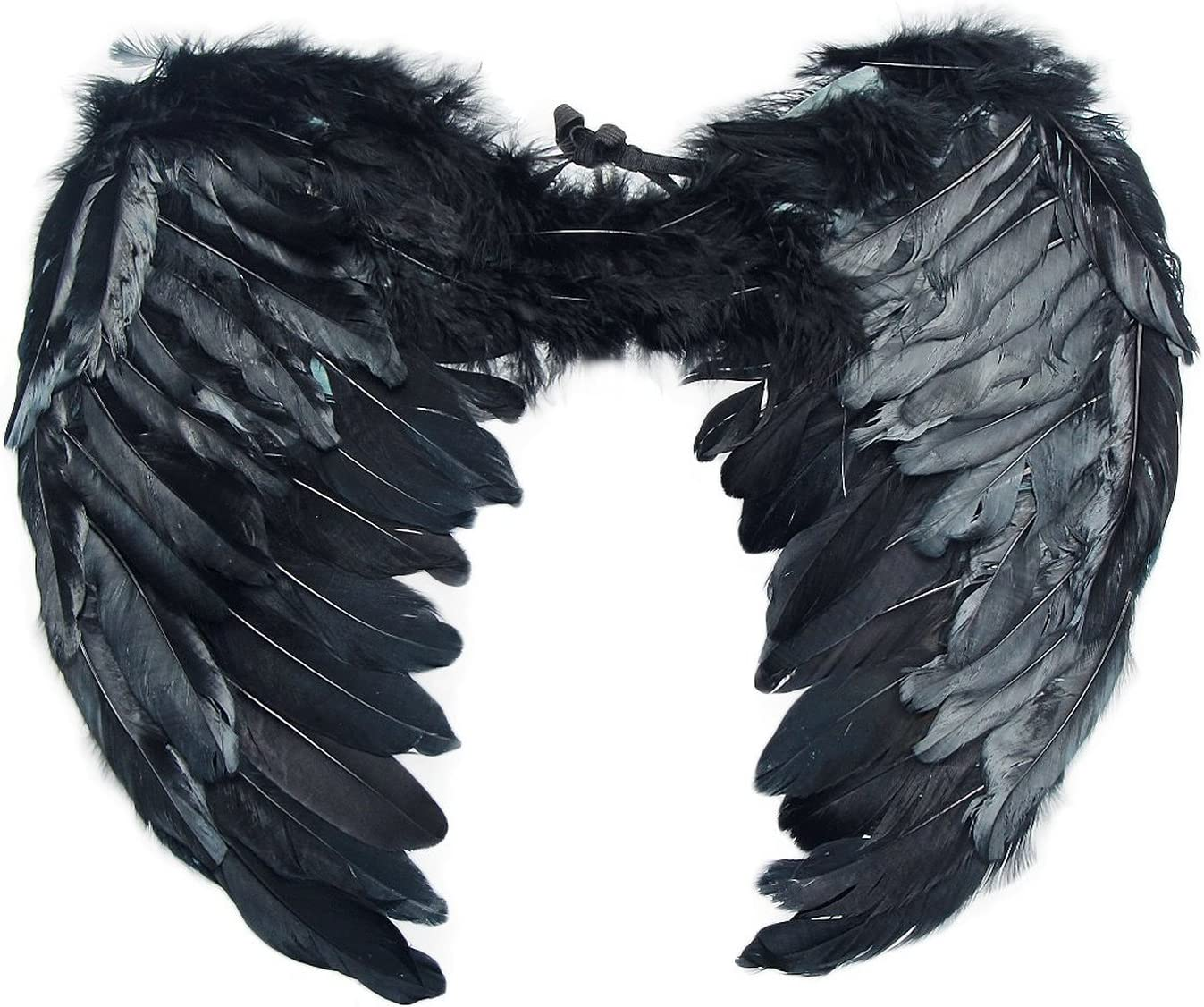 SUKRAGRAHA Angel Feather Wings Christmas Carol Costume Accessory Black Small