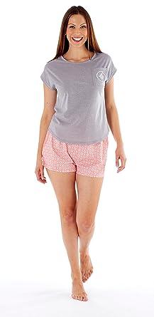 f470b25a8b9a Selena Secrets Ladies Short Sleeve Pure Cotton Short Pyjamas Set (8 ...