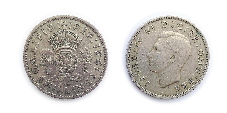 Münzen Für Sammler Gebraucht Briten 1951 Florin Two Bob Bit 2