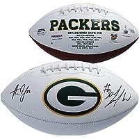 $169 » Aaron Jones & Jamaal Williams Green Bay Packers Autographed White Panel Football - Fanatics Authentic Certified