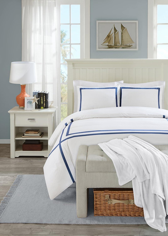 Urban Habitat juego de cama de Aberdeen, 100% de microfibra, fundas de almohada y funda de edredón de sirsaca, azul marino, matrimonio: Amazon.es: Hogar