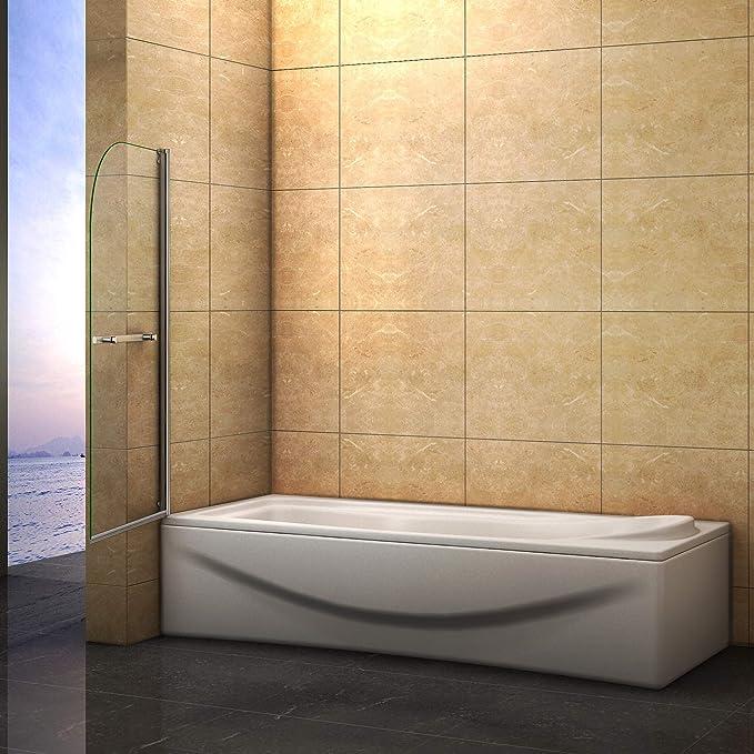 Mampara bañera 1 hoja abatible
