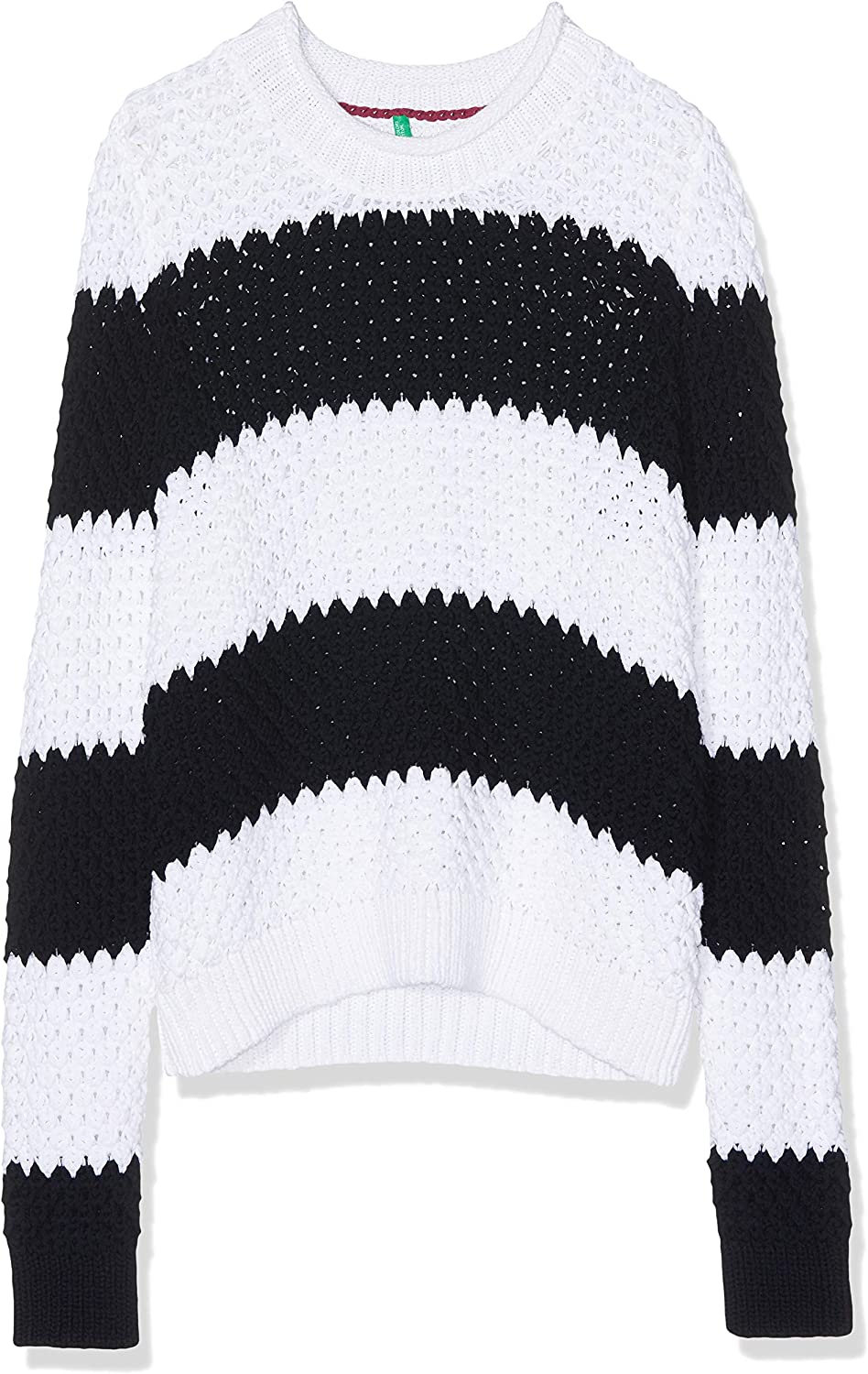 United Colors of Benetton Stripe Chunky Knit Jumper Felpa Donna