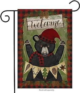 "Briarwood Lane Welcome Winter Bear Garden Flag Seasonal Camping 12.5"" x 18"""