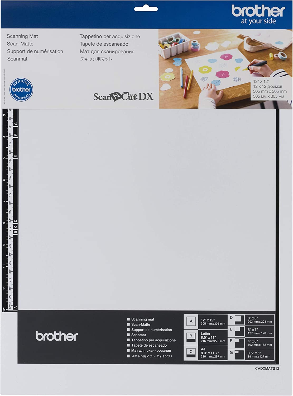 "Brother ScanNCut DX Mat CADXMATS12, 12"" x 12"" Scanning Mat, Non-Tack to Convert Materials into Custom Designs"