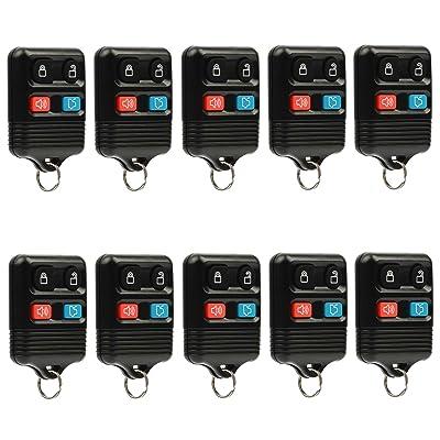 Car Key Fob Keyless Entry Remote fits Ford, Lincoln, Mercury, Mazda (CWTWB1U331 GQ43VT11T CWTWB1U345 4-btn), Bulk Lot of 10: Automotive