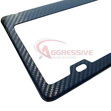 carbon fiber license plate frame tag registration real premium quality 3d twill weave light weight
