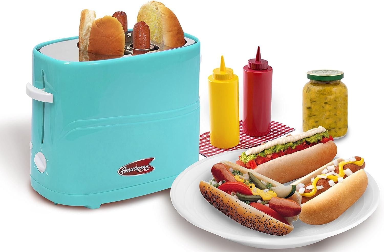 Blue Americana ECT-542BL Retro Pop-Up Hot Dog Toaster Cooker Machine
