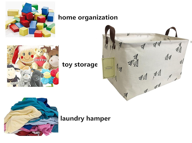 HIYAGON Rectangular Storage Box Basket for Baby Kids or Pets Fabric Collapsible Storage Bin for Organizing Toys,Nursery Basket,Clothing,Books Cross Gift Baskets