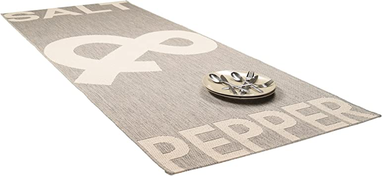 80 x 200 cm adatto per cucina e altri ambienti Benuta Tappeto da cucina Salt /& Pepper nero//bianco facile da pulire