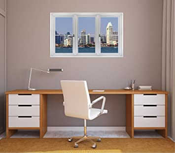 36 window landscape scene city view san diego california usa skyline day 2 white - San Diego Home Decor 2