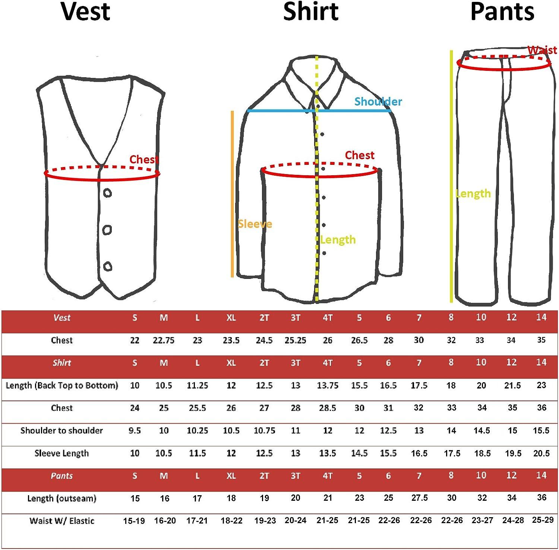 Leadertux 4pc Baby Toddler Kid Boy Wedding Suit Brown Pants Shirt Bow tie Hat Set Sm-4T