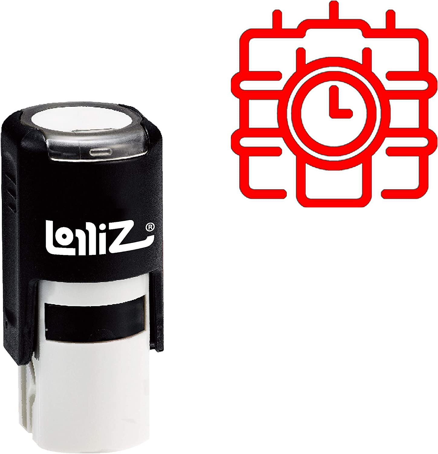 LolliZ Modern Symbol Series - Time Bomb Self-Inking Rubber Stamp: Amazon.es: Juguetes y juegos