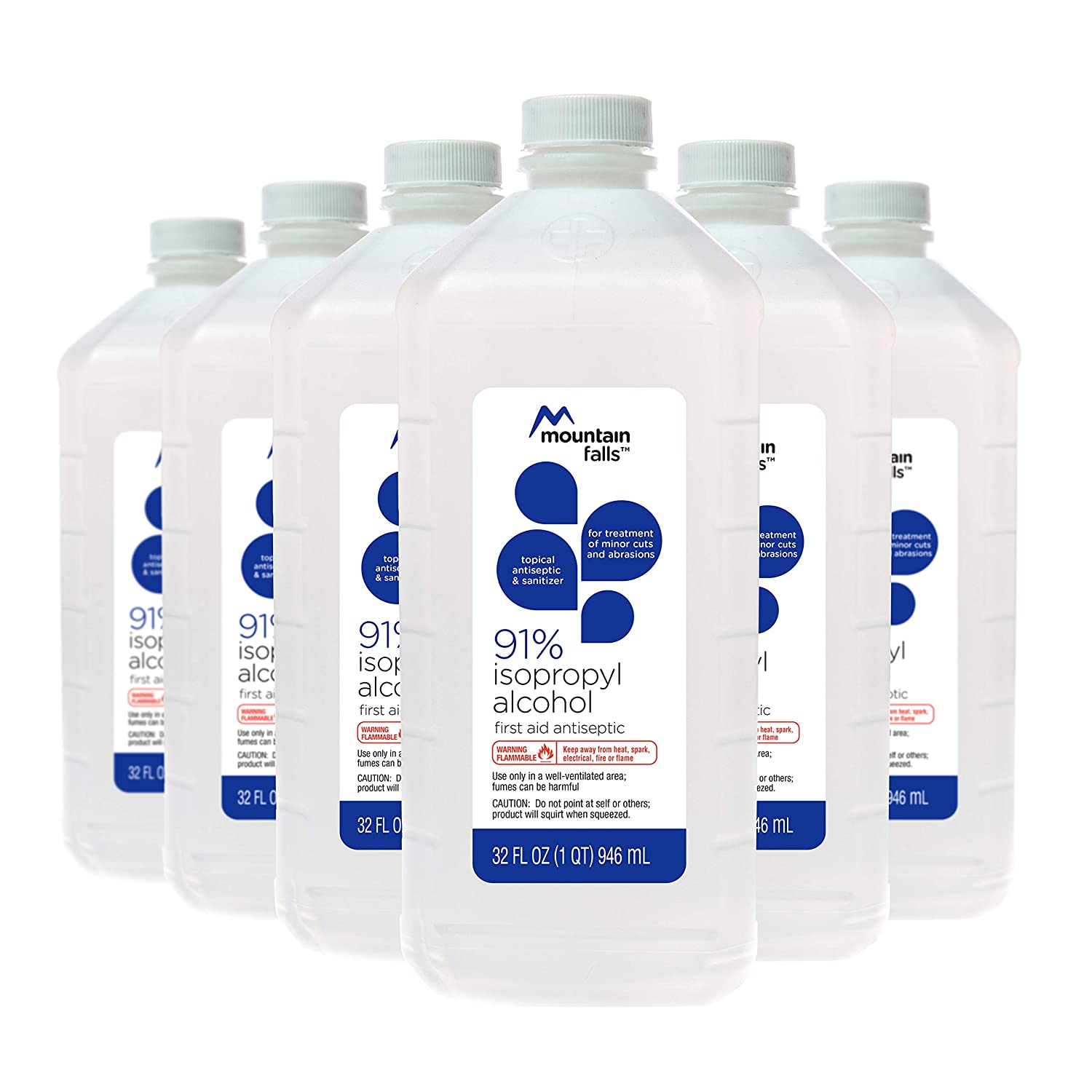 Mountain Falls 91% Isopropyl Alcohol First Aid Antiseptic for Treatment of  Minor Cuts and Scrapes, 32