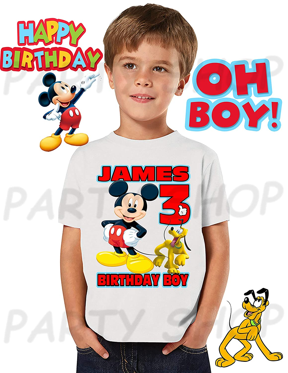 Mickey Mouse Birthday ShirtMICKEY MOUSE PartyADD Any Name And Age FAMILY Matching Shirts Boys Girls Shirt