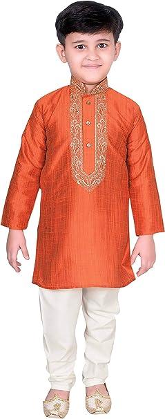 Kurta Ragazzi Bambino Cotone Bollywood Party Wear Indiano Pakistano Camicia Ricamo