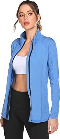 ELESOL Track Jacket Women Full Zip Workout Jacket Athletic Running Jackets/Hoodies S-XXL