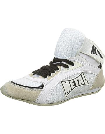 Metal Boxe Viper1 - Botas Altas de Boxeo, Hombre, Viper1, Blanco, Talla