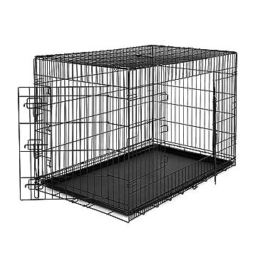 dibea DC00495, Jaula de Transporte (Tamaño XXXL) para Perros y Animales Pequeños, Estable Caja de Metal, Plegable, 2 Puertas: Amazon.es: Productos para ...