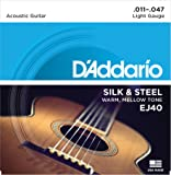 D'Addario EJ40 Silk & Steel Normal (.011-.047) Folk Guitar Strings
