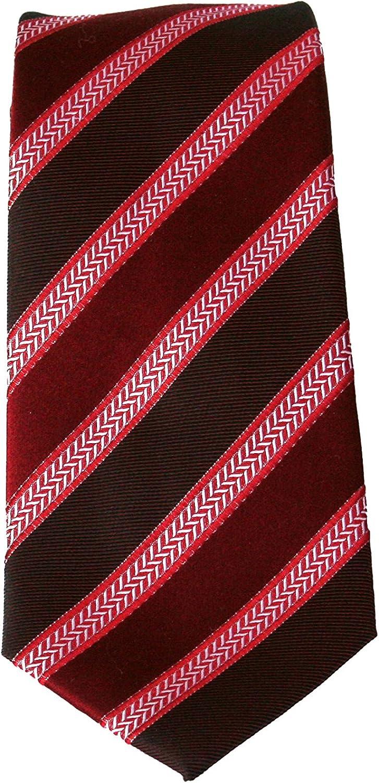 Cravatte Uomo eleganti Cravatta rosso a righe bordeaux pura seta Pietro Baldini