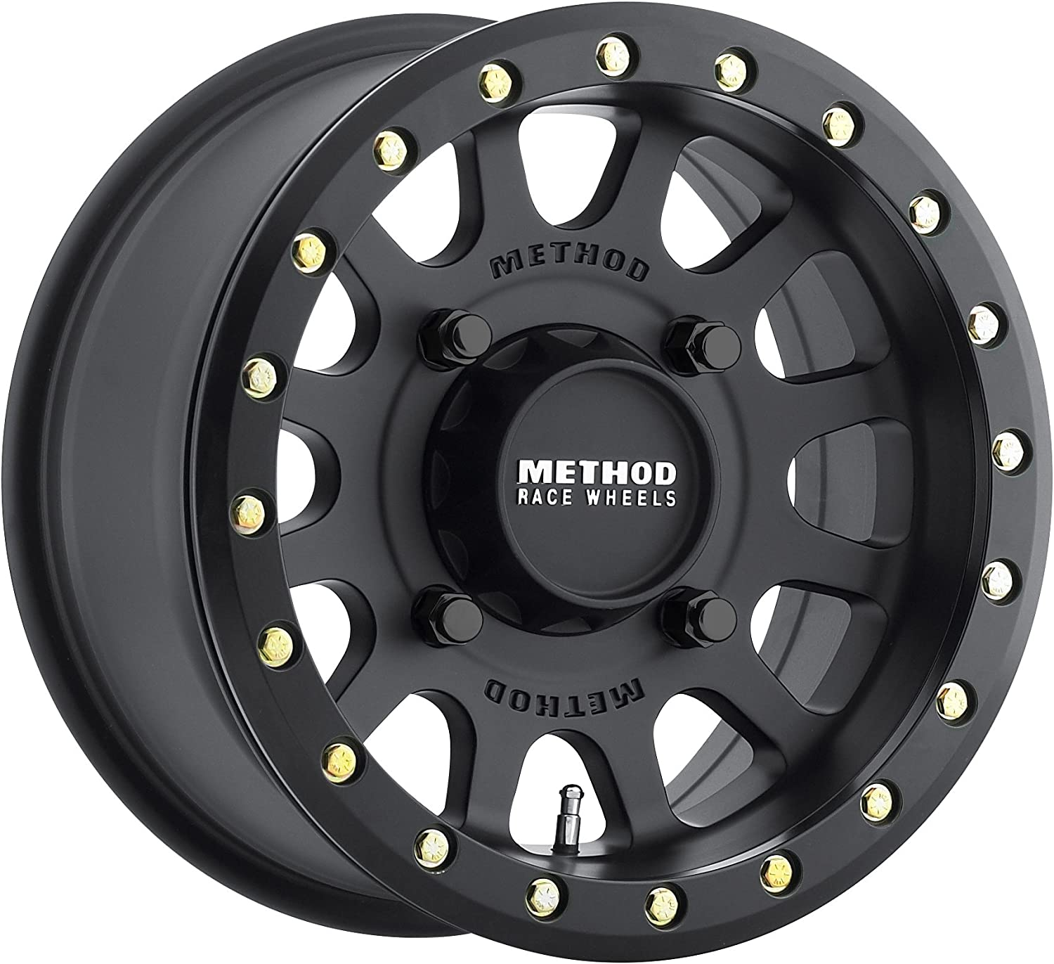 Method 401 Beadlock Matte Black ATV//UTV Wheel 15x7 4+3 4//156 - MR40157046543B