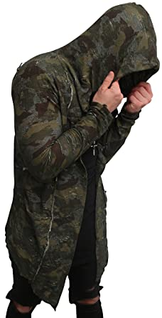 Camouflage Oversize Designer Sweat Jacke Cardigan Hoody