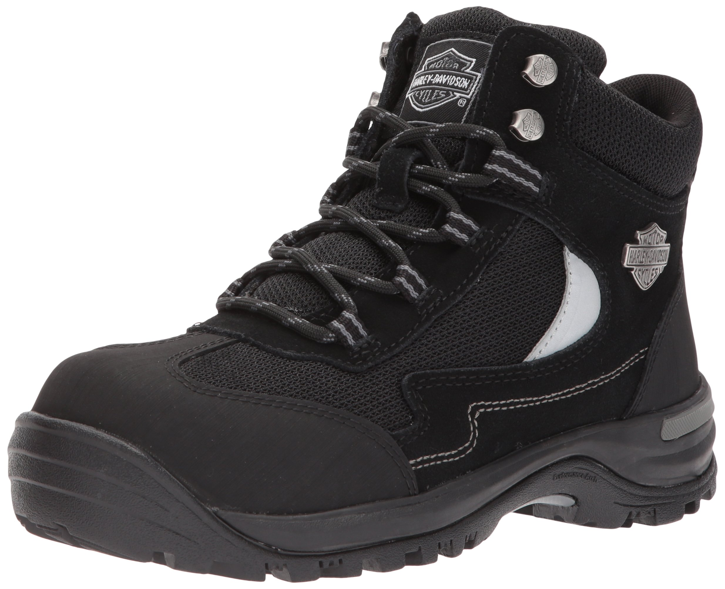 Harley-Davidson Women's Waites CT Industrial Shoe, Black, 9 Medium US