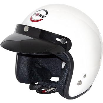 Core Vintage Open Face Helmet (White, Large)