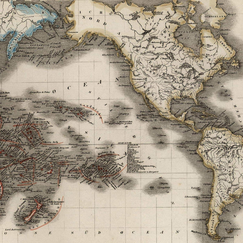 Detailed Map Of Australia.Amazon Com Australia Pacific Islands Oceania 1849 Radefeld Detailed