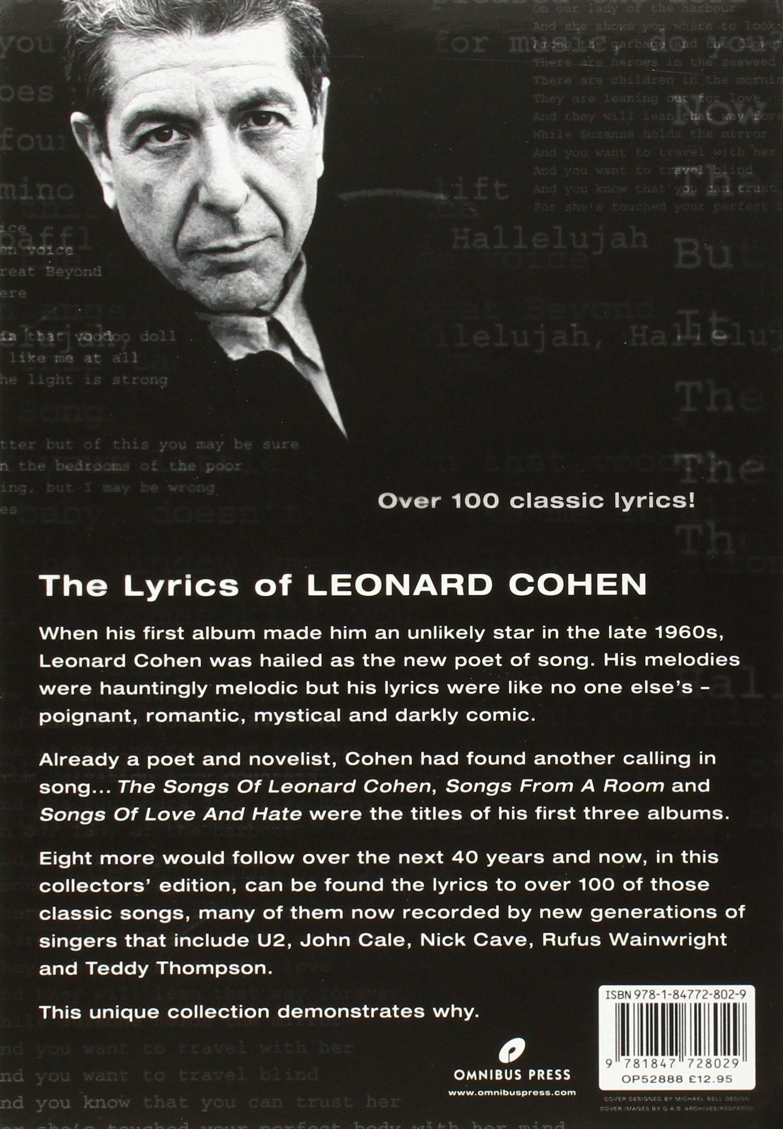 The Lyrics of Leonard Cohen Leonard Cohen Amazon