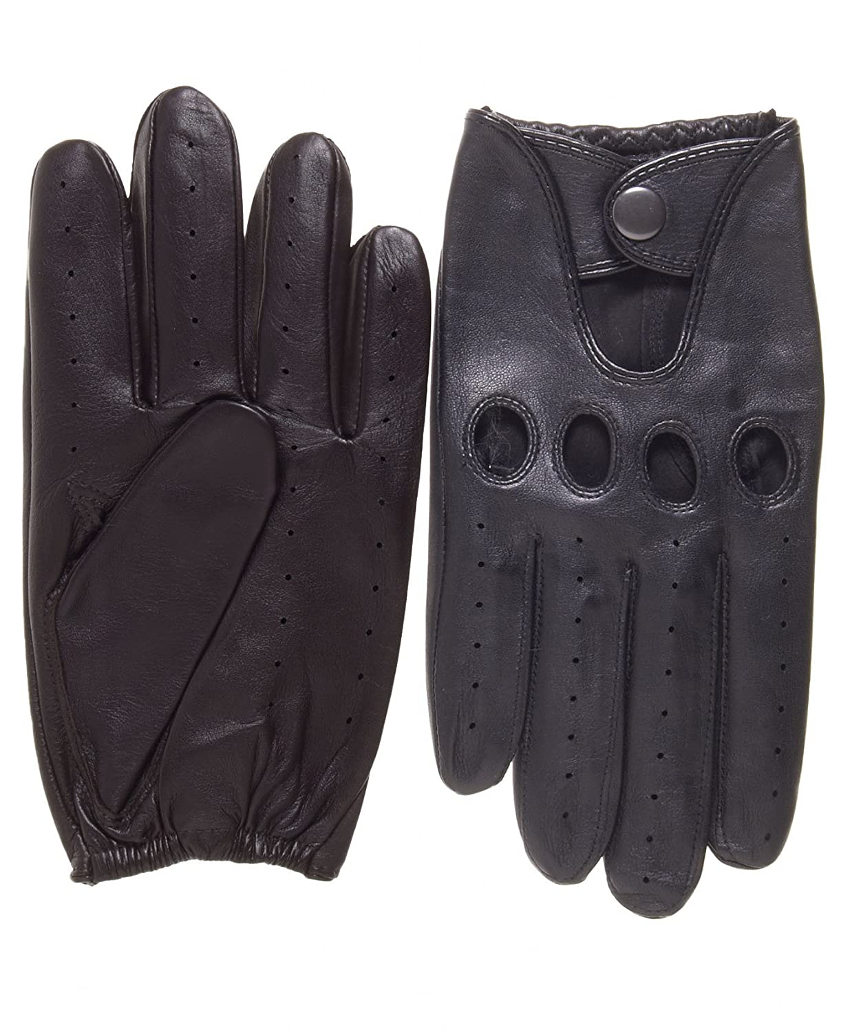 Mens leather driving gloves australia - Pratt And Hart Traditional Leather Driving Gloves Size S Color Black At Amazon Men S Clothing Store Cold Weather Gloves