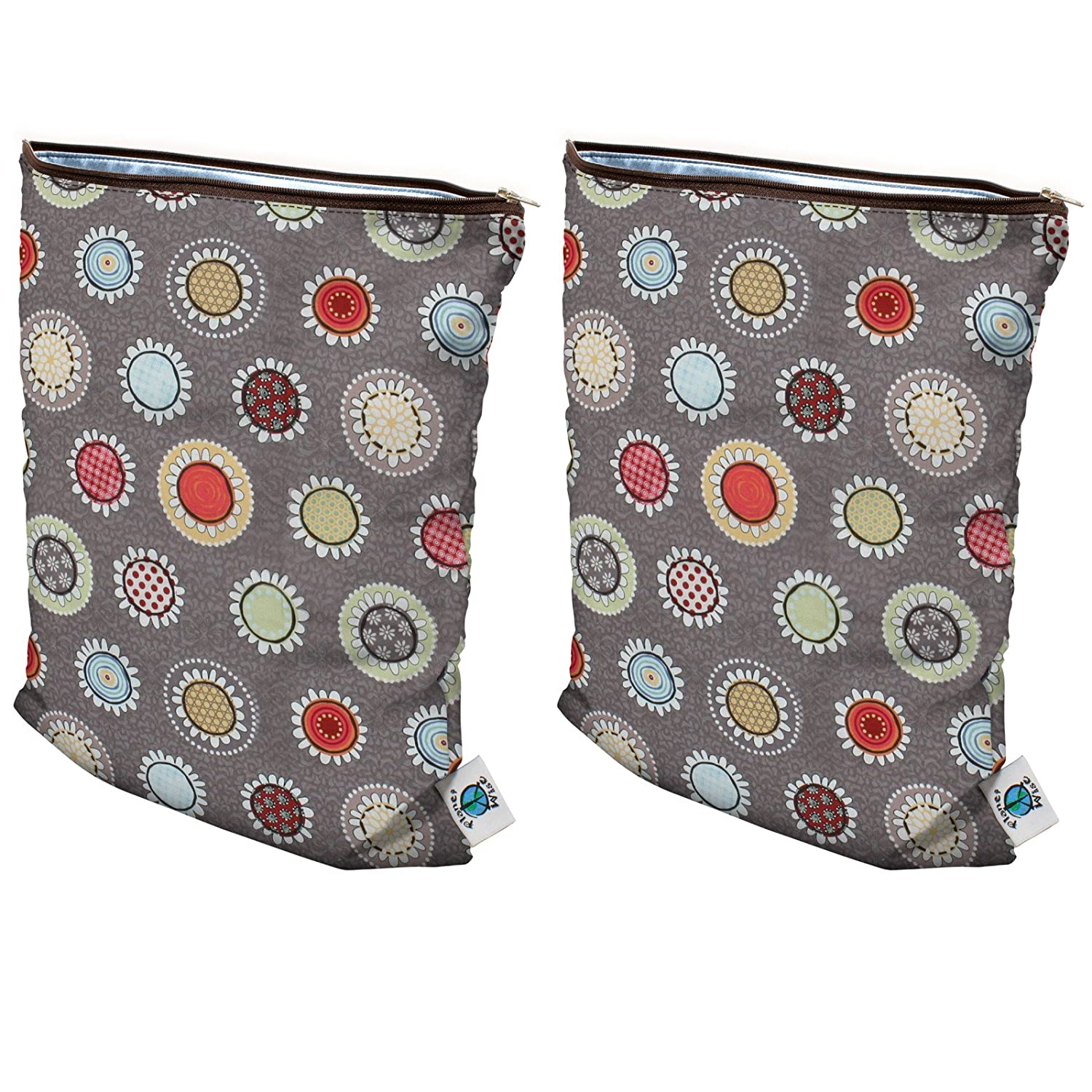 Amazon.com : Planet Wise Medium Wet Bag, 2 Pack - Funky Flowers : Diaper Tote Bags : Baby