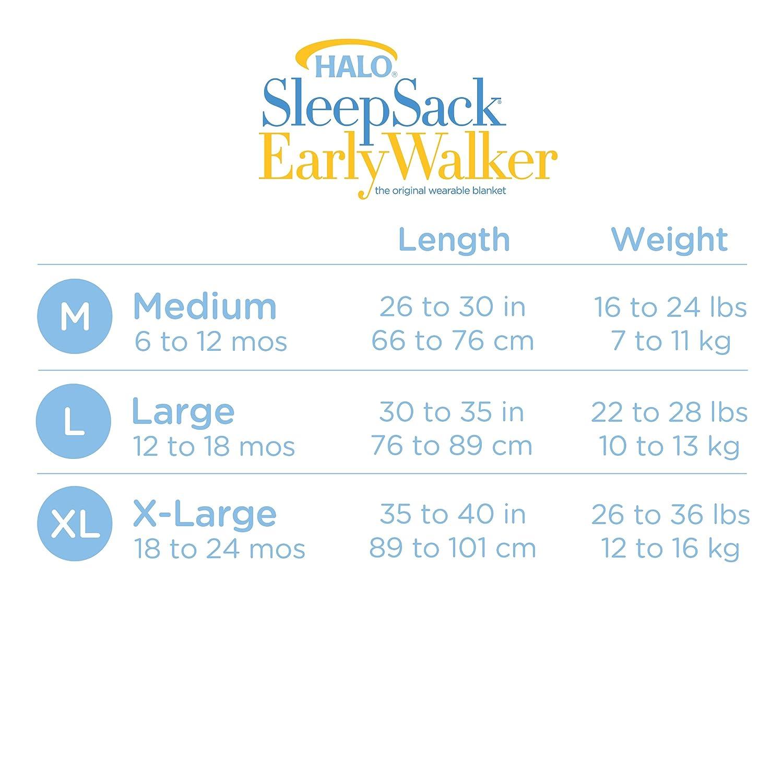 Halo temprana Walker Sleepsack portátil de punto ligero manta, azul, XL: Amazon.es: Bebé