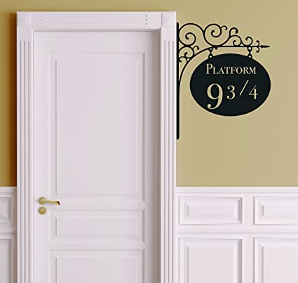 Platform 9 3 4 Version 2 Harry Potter Door Decor Wall Decal Vinyl