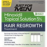 Just for Men 5% Minoxidil Extra Strength Hair Loss Regrowth Treatment for Men, Topical Solution, Includes Dropper Bottle…
