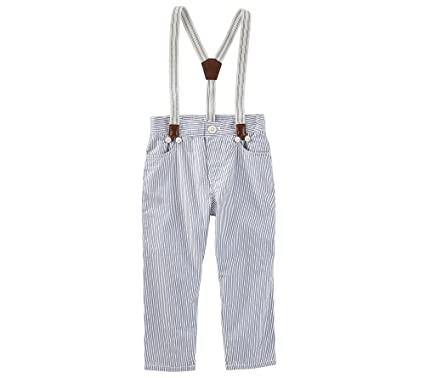 74a4f80e4 Amazon.com: OshKosh B'Gosh Baby Boys' Suspender Twill Pants: Clothing