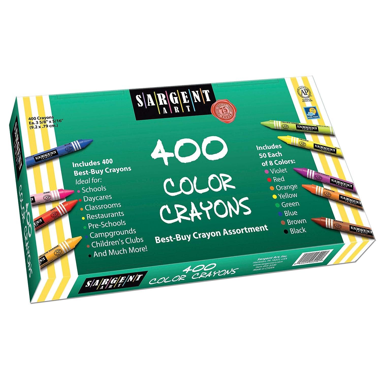 Sargent Art 55-3220 3-5/8-Inch 400 Count Best-Buy Assortment Crayon