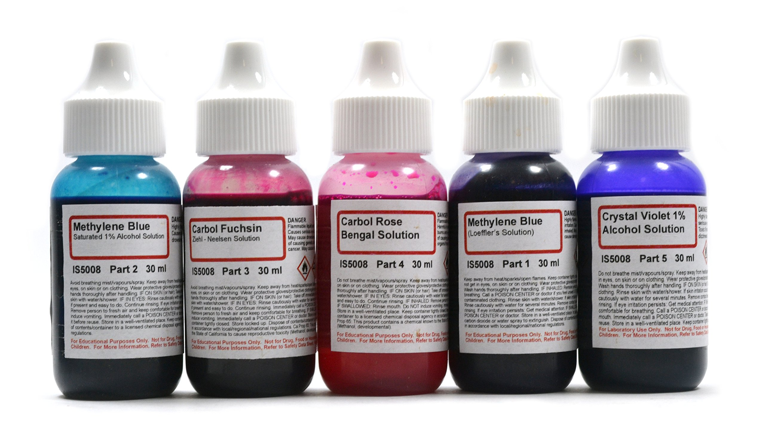 Innovating Science Bacteria Stain Chemicals Set
