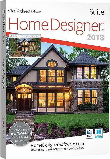 Amazoncom Chief Architect Home Designer Suite 2018 DVD